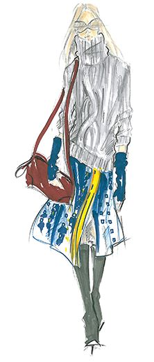Quarry | Tommy Hilfiger  #fashion #illustration | Pantone Fashion Color Report Fall 2011