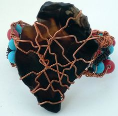 Africa Inspired Copper Cuff by ekocreashunz on Etsy, $49.95