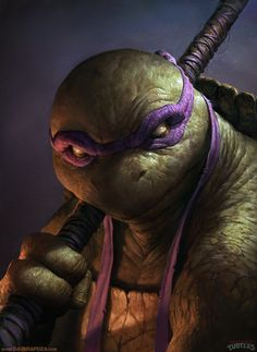 Donatello: This artist, David Rapoza, actually made Donatello look mean looking and cool, unlike the cartoon and previous movie incarnations.- If I were the director of the rumored new live action reboot of the films, I would be looking at this artist for inspiration. Check him out on deviant art for more TMNT, as well as other cartoons like He-man and the Masters of the Universe.