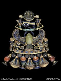 This winged scarab necklace is one of Dr Hawass' favourite King Tut artefacts. Image Copyright - Sandro Vannini.
