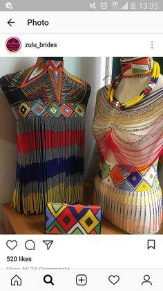 African Wedding Attire, African Attire, African Wear, African Women, African Dress, Zulu Traditional Attire, African Traditional Wear, Traditional Outfits, Traditional Wedding