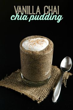 Vanilla Chai Chia Pudding (vegan, gluten-free) - Sweet vanilla and chai spices are whisked into nutrient-rich chia pudding to create a spiced pudding. This chia pudding makes an excellent snack or healthy dessert!