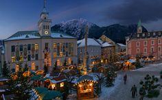 The Christmas Market in Bad Reichenhall, Germany ... a spa town in Upper Bavaria near Salzburg, Austria