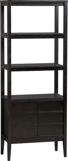 Spotlight Ebony Bookcase in Bookcases, Cabinets | Crate and Barrel
