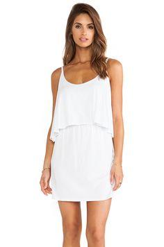 Bobi Jersey Layered Dress in White #REVOLVEclothing