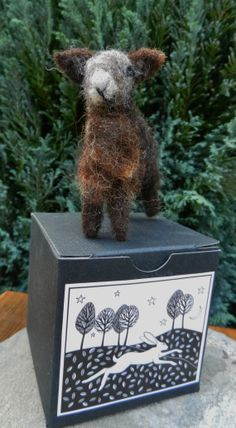 Needle Felted Gift Boxed Herdwick Lamb by WildernessFelt on Etsy, £10.00