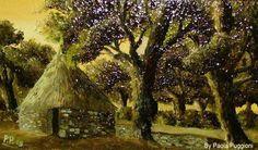"Pinnetta at the Gennargentu   oil on canvas panel 12"" x 20"""
