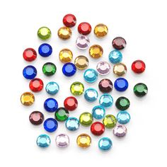Hot-Fix Glass Rhinestones-Multi Color-Value Pack