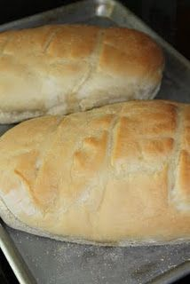 easy french bread :)  Second time making it. I halved the recipe and made two baguettes. Delish