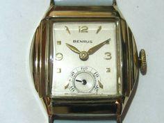 Blova BENRUSアンティークWATCH手巻き金バリスモセコ 時計 Watch Antique ¥42800yen 〆05月31日