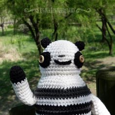 Cute Handmade Crochet PANDA Z by CharlesinNeedleland on Etsy