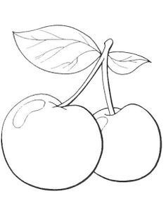 Fruit color page. Nature & Food coloring pages. Coloring pages for kids. Thousands of free printable coloring pages for kids! Fruit Coloring Pages, Colouring Pages, Printable Coloring Pages, Coloring Pages For Kids, Coloring Books, Hand Embroidery Patterns, Applique Patterns, Craft Patterns, Beaded Embroidery