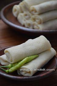 Diah Didi's Kitchen: Lumpia Semarang Versi Basah Indonesian Desserts, Indonesian Food, Indonesian Recipes, Savory Snacks, Snack Recipes, Cooking Recipes, Diah Didi Kitchen, Malaysian Dessert, Low Glycemic Diet