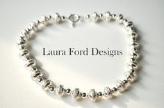 Ethnic Silverplated Necklace by LauraFordDesigns on Etsy, $59.00