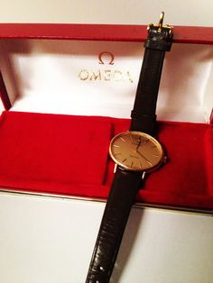 1970s Gold Ladies Omega Watch Clocks, Omega Watch, 1970s, Buy And Sell, Watches, Lady, Leather, Gold, Accessories