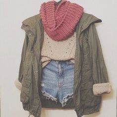 add tights, longer shorts, and booties.= fall perfection
