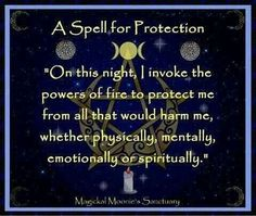 Protection spell....