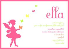 Pink and Green Fairy and Butterfly Birthday Party