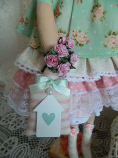 Купить Тильда фея домашнего уюта - мятный, тильда фея, тильда хранительница, тильда кукла