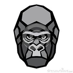 Gorilla ape head logo