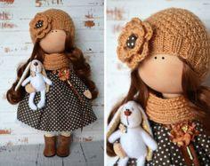 Gato muñeca Tilda muñeca Interior de la por AnnKirillartPlace