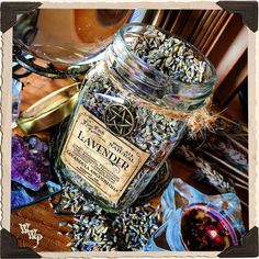 LAVENDER BUDS APOTHECARY. Dried Herbs. Lavandula Angustifolia. For Relaxation, Divination, Meditation & Sleep.