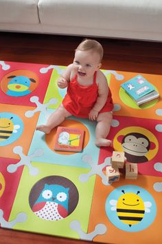 SkipHop Playspot for the Playroom! I like this so much better then the boring old alphabet one.
