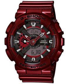 G-Shock Men's Analog-Digital Metallic Red Bracelet Watch 55x51mm GA110NM-4A