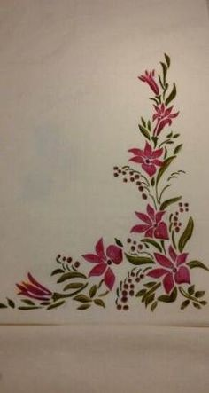 Flowers Painting Pattern One Stroke 53 Ideas Fabric Colour Painting, Fabric Drawing, Dress Painting, Painting Flowers, Saree Painting Designs, Fabric Paint Designs, Painting Patterns, Hand Painted Dress, Hand Painted Fabric