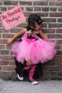 Bat Girl Bat Man Super Hero Tutu Dress by TheSweetestBowtique, $29.99 Kryssy's Halloween costume. ^_^