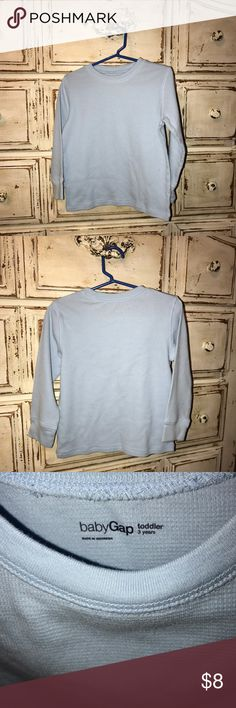 Gap kids thermal tee Gap kids 3T baby blue thermal style tee.  Great condition.  Save 30% off with bundles of 3!  Comes from smoke free home ✌🏻 GAP Shirts & Tops Tees - Long Sleeve