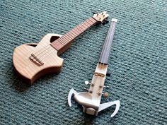 """future tense"" uke and e-violin"