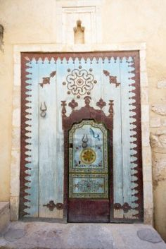 Blue old door - Tunisia
