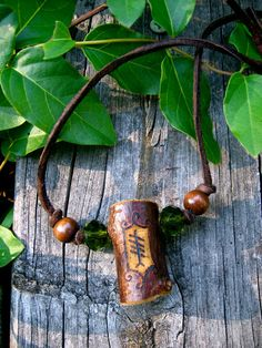 Blackthorn Ogham Necklace by EireCrescent on Etsy, $19.99