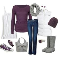 Purple, gray n white........cute and casual! -  I Save Free Silver Today... To Buy More Like This Tomorrow. ..http://tiny.cc/SaveFreeSilver...