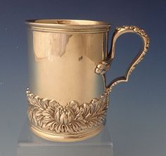 CHRYSANTHEMUM BY TIFFANY & CO. STERLING SILVER BABY MUG / CUP RARE (#0123) antiquecupboard http://www.amazon.com/gp/product/B00Z3XX63M/ref=as_li_qf_sp_asin_il_tl?ie=UTF8&camp=1789&creative=9325&creativeASIN=B00Z3XX63M&linkCode=as2&tag=divinetreas03-20&linkId=JIEU43WH3XQWIP7W