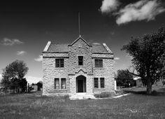 Restored building near Fort Wallace, KS.