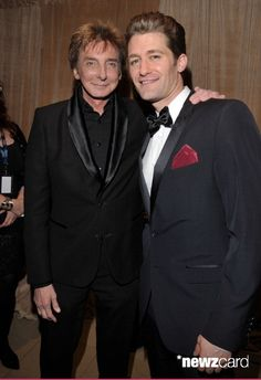 Singer Barry Manilow (L) and actor/singer Matthew Morrison arrive at the 2011 Pre-GRAMMY Gala and Salute To Industry Icons Honoring David Geffen at The Beverly Hilton Hotel on February 12, 2011 in Beverly Hills, California.  (Photo by Lester Cohen/WireImage)