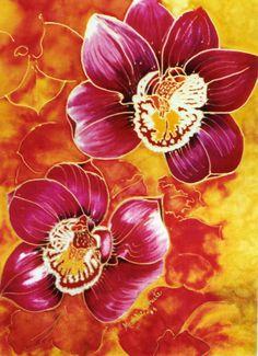 Orchids on silk. Michele Shute .2004