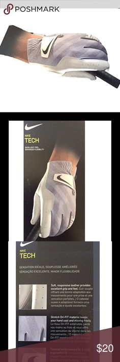 Nike Tech Golf Gloves 2017 Regular L XL Brand New - Nike Tech Golf Gloves 2017 Regular White/Black/Wolf Gray Fit to Left Hand X-Large Nike Other