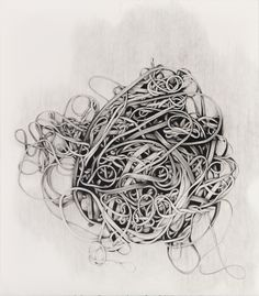 Karl Haendel and Jason Kakoyiannis, Rubber Bands #1, 2010, Pencil on paper  #attention to detail