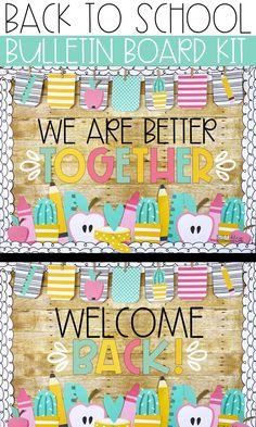 Bulletin Board Sayings, Easy Bulletin Boards, Welcome Bulletin Boards, Elementary Bulletin Boards, Back To School Bulletin Boards, Classroom Decor Themes, Classroom Crafts, School Decorations, Classroom Ideas