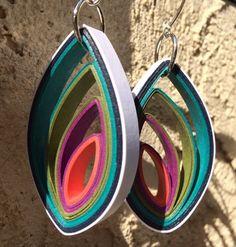 Modern Paper Earrings - Bud