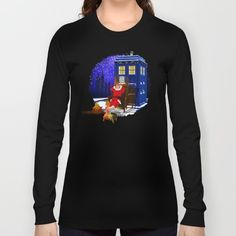 10th Doctor who Relax before LONG SLEEVE T-SHIRT #tshirt #longsleeve #clothing #painting #digital #ink #watercolor #comic #illustration #popart #christmas #newyear #tardisdoctorwho #doctorwho #tardis #timelord #badwolf #drwho #timetravel #starrynight