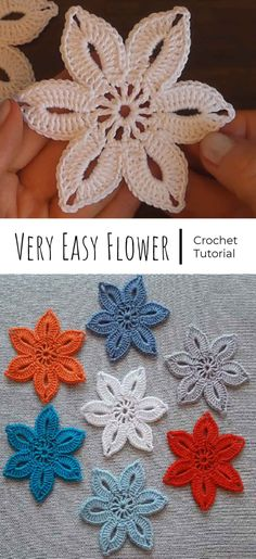 Excellent Cost-Free Crochet flowers easy Suggestions Crochet Very Easy Flower Crochet Jewelry Patterns, Crochet Flower Patterns, Crochet Motif, Crochet Designs, Crochet Stitches, Knitting Patterns, Beau Crochet, Crochet Puff Flower, Crochet Flowers