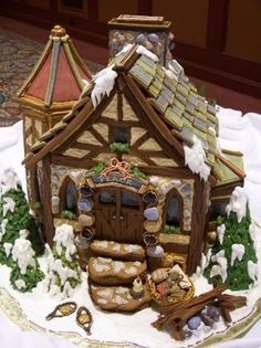 Gingerbread Cottage: This is an OVER the TOP Cottage, Beautiful...