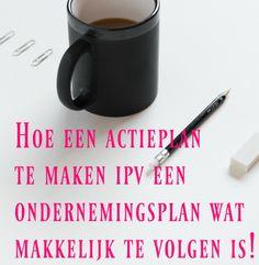 Download jouw gratis exemplaar! Met dit actieplan zorg je ervoor dat de plannen die door jouw hoofd heen spoken op papier komen. www.dinordakuwas.nl