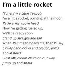 rocket songs for preschoolers 1000 ideas about space theme preschool on 893 Space Theme Preschool, Preschool Music, Preschool Lessons, Themes For Preschool, Preschool Fingerplays, Preschool Learning, Kindergarten Activities, Circle Time Songs, Circle Time Activities