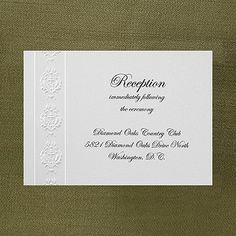 Baroque Detail - Reception Card weddingneeds.carlsoncraft.com