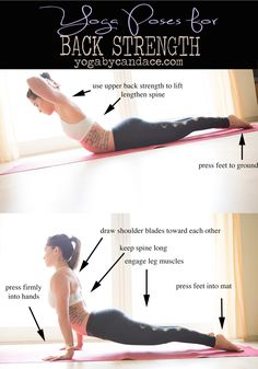 Pin it! Yoga for improving back strength. Wearing: lululemon bra, teeki moon leggings. Using: Manduka travel mat.